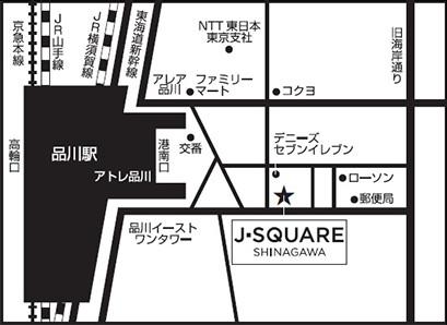 J-SQUARE map 地図